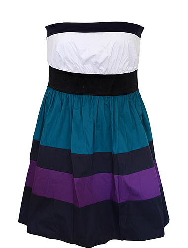 Cotton Adorable Stripe Tube Dress US$37