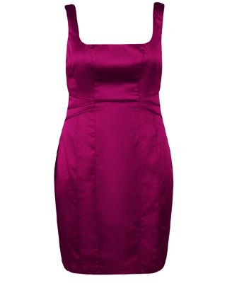 Defined Waist Satin Dress