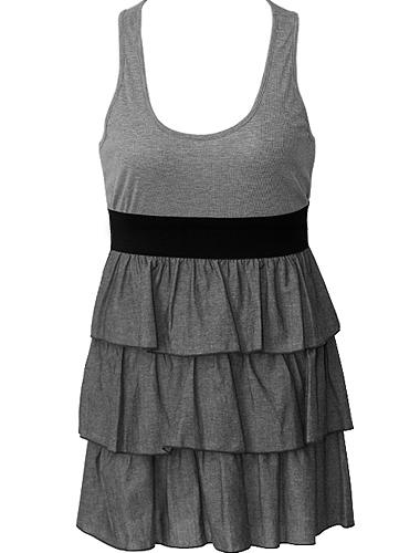 Fabulous Layered Ruffled Skirt Dress US$40