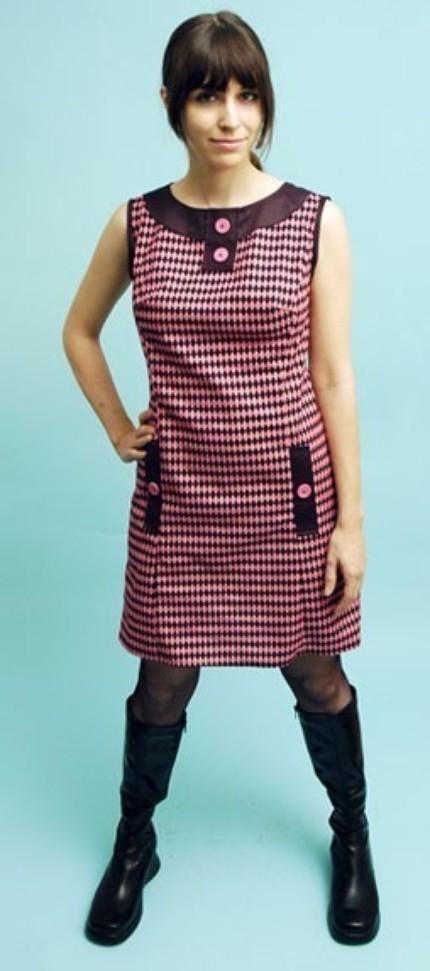Harlequin Mod Shift Dress