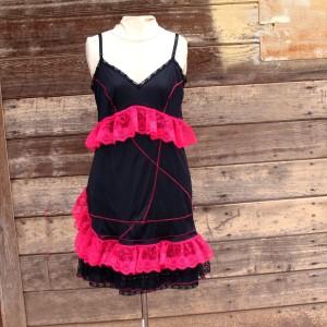 HOT CROSSES Slip Dress- Vintage reconstructed XL 14 - 16 plus size