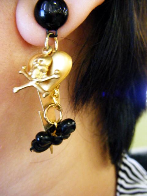 Earrings left side