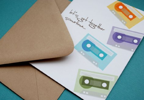 Lets get together sometime... single card by In-Vita Paper Studio
