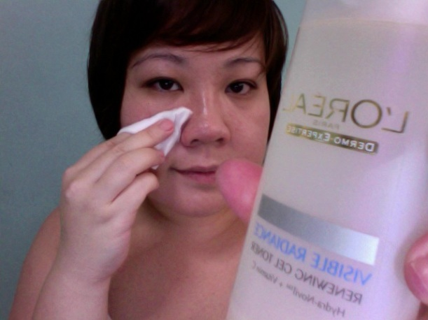 Step 1 - L'OREAL Visible Radiance Renewing Gel Toner
