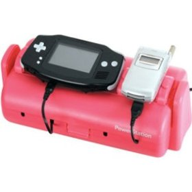 PINK Power Station Battery Charger Station - Three Stations to Charge Cell Phones, Games, PDA, More - By ReSource
