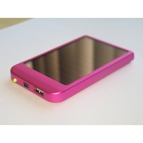 Portable Solar Panel USB Battery Charger for Cell Phone MP3 PDA Color Pink
