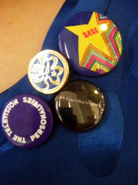 Badges upclose