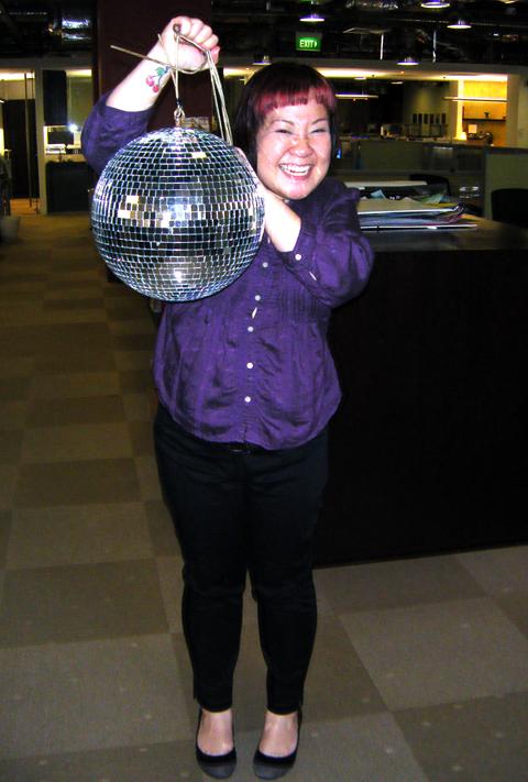 Purple & the new pet disco ball