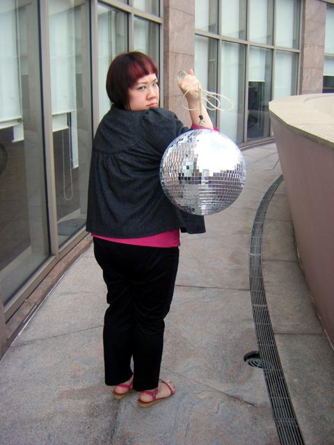 Disco Ball is bigger than my butt *phew*