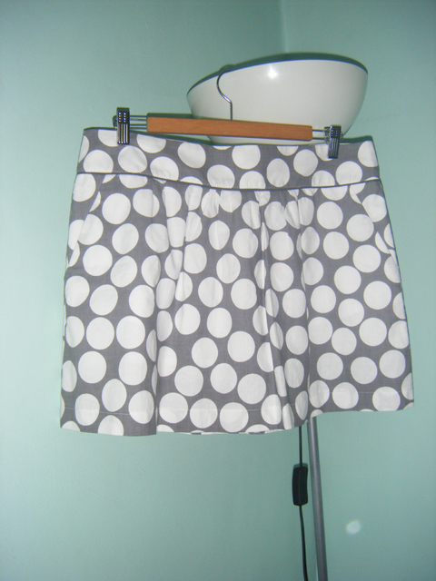 Grey Polka Dotted Skirt from Naf Naf