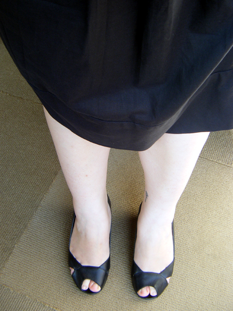 Closer look at my pastey white legs