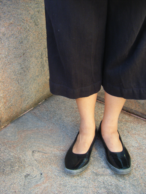 Love Michelle's patent leather platform flats from MUJI