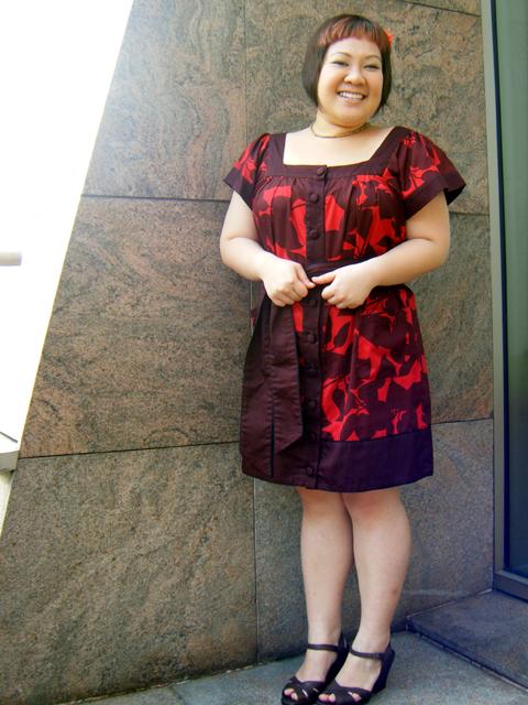Red FCUK dress