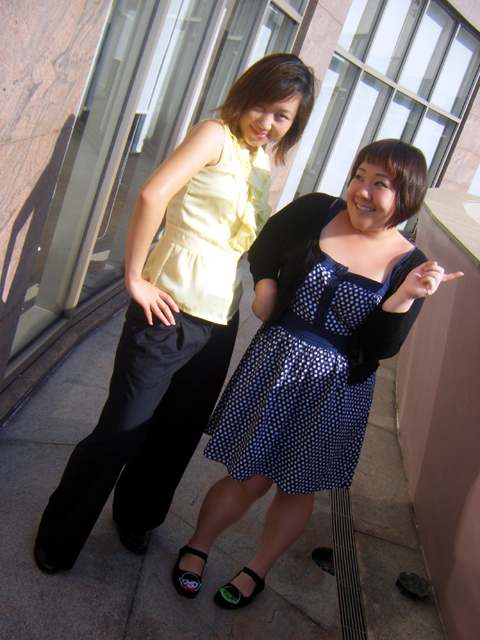 Pearlyn & I being silly... photgraphed by Michelle Yeo