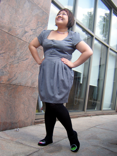Grey Tulip Skirted Dress from ASOS
