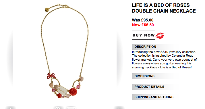 Life is a Bed of Roses Double Chain Necklace
