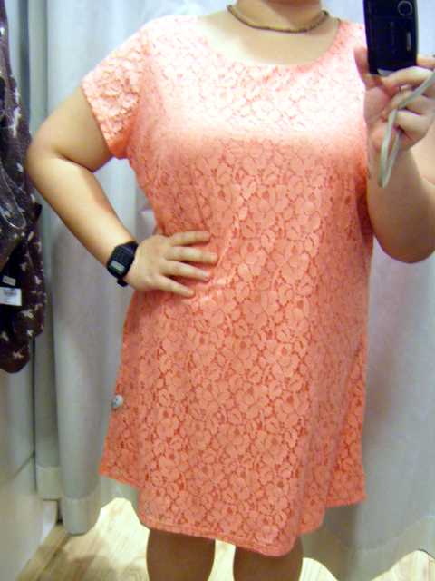 DP Coral Lace Tunic - I tried on a size 20