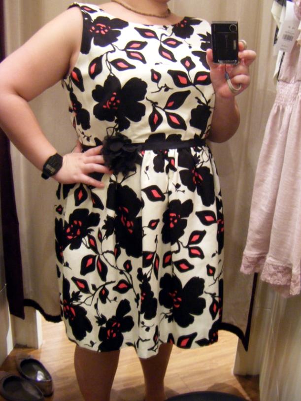MISS SELFRIDGE Bold Black/Pink/Beige Floral Dress (S$103)