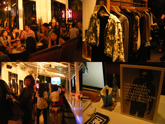 Bloggers, food & clothes... Love the white feathery jacket!!