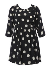 Black and Ivory Spot Dress