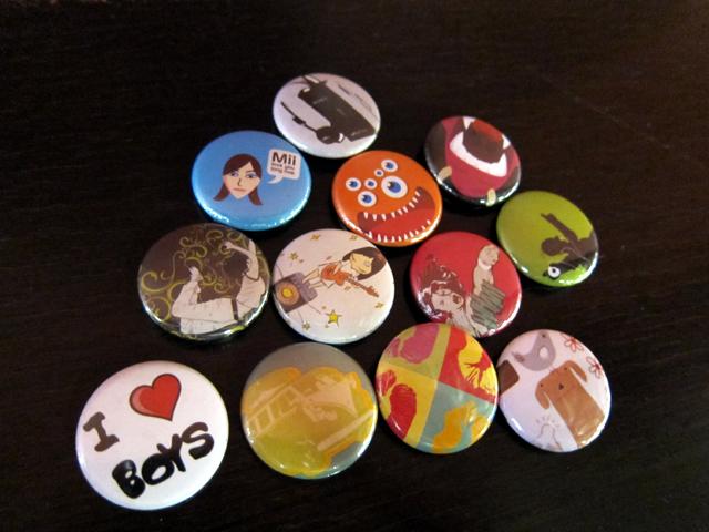 Pack of 12 badges (see http://cheekymollys.wordpress.com)
