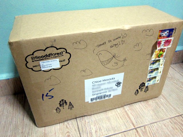 Ooh a box! With doodles and stamps!