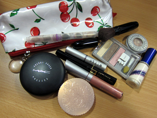 October 2010 - contents of my make-up pouch