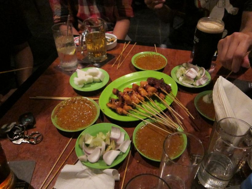 Best satay in Bangsar. Drinks at Ronnie Q's
