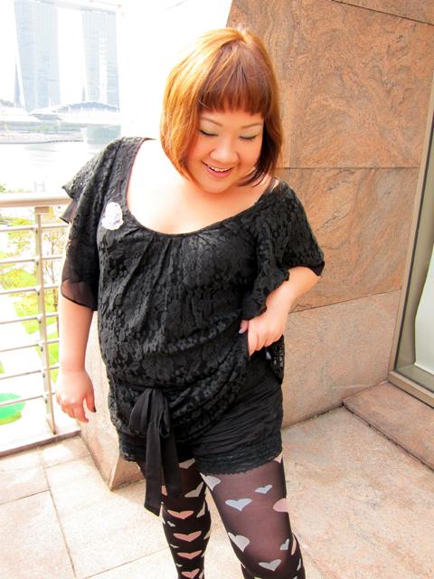 Peekaboo! Lace shorts