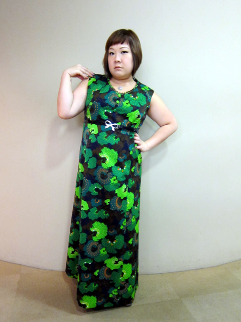 Pouty on a Tuesday. Do you like this crazy green dress?