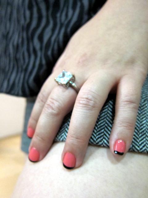 Do you like my manicure? OPI Elephantastic Pink & a black french tip