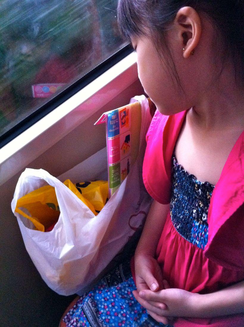 She fell asleep on the 45min bus ride home