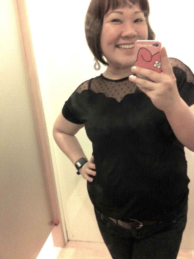 Love the peekaboo top & it's so bloody soft! BOUGHT!!