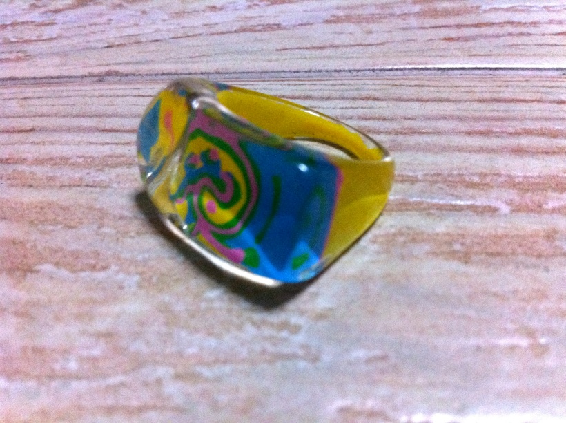 A plastic ring - ultra colourful!
