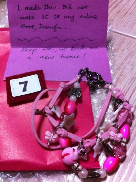 On the 7th day, I got a handmade bracelet I love