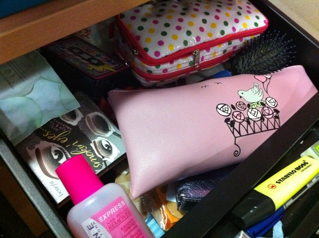 A drawer full of beauty products!