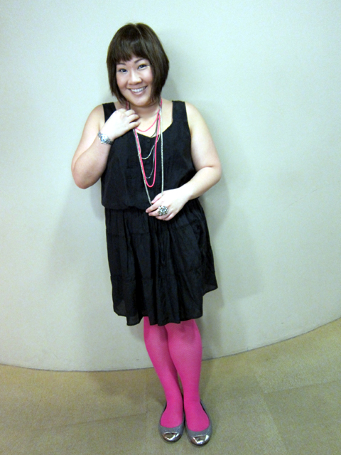 Black and Pink ensemble