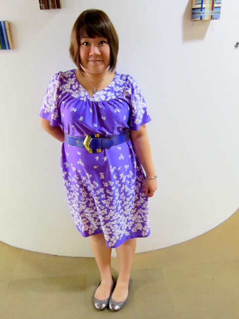 My purple tent dress