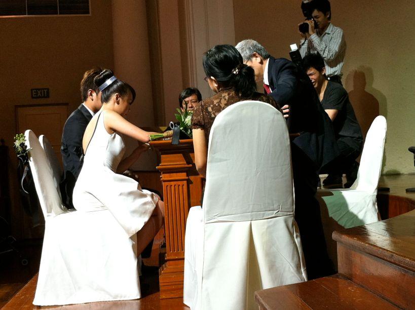 The Ceremony. The new Mr & Mrs Ben Goh