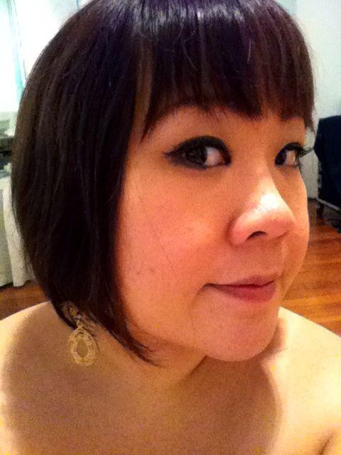 My dangling gold earrings from ALDO