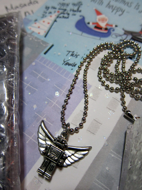Flying Robot Necklace!