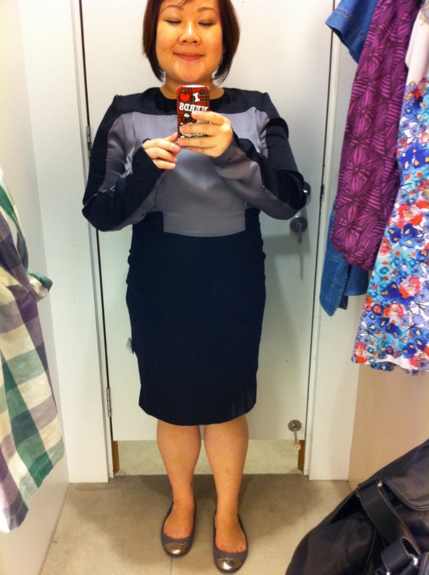 WAREHOUSE spacecadet/schoolmarm dress S$183 uh no thanks