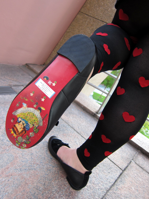 The adorable soles on Irregular Choice shoes...