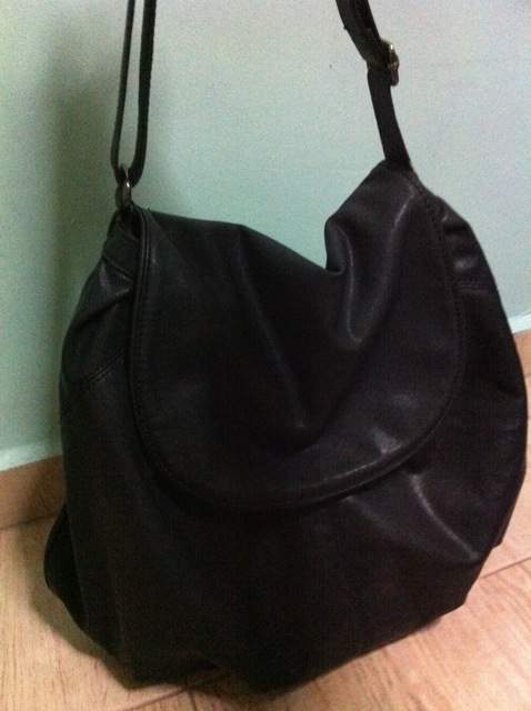 The slouchy black MNG handbag I carry to work daily