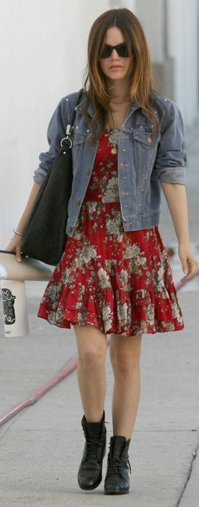 rachel-bilson-floral-dress-black-boots-403x1024