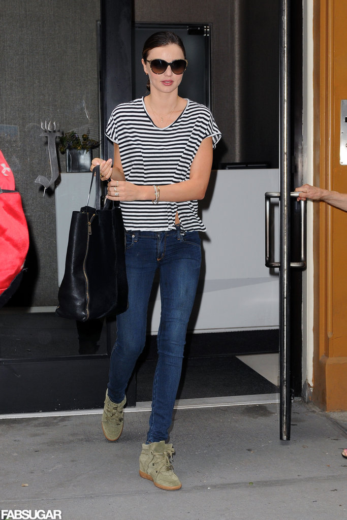 Miranda-Kerr-wore-her-olive-green-Isabel-Marant-kicks-striped